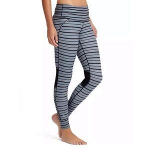 Athleta Relay Striped Leggings sz: Small